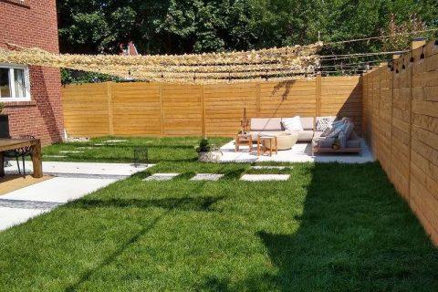 Retaining Wall, Wood & Vinyl Fencing